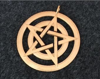 Pentacle pendant - circles
