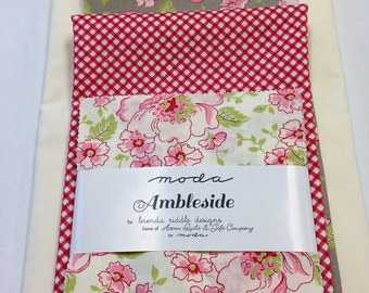 """Ambleside Mini Quilt Kit A Cuppa Teacup Coffee Cup Designed by Brenda Riddle of Acorn Quilt Gift Company Size 30"""" x 36"""""""