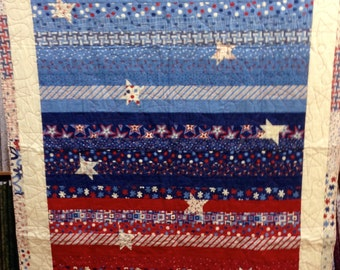 4th of july quilt | Etsy : fourth of july quilt pattern - Adamdwight.com
