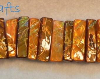 Orange shell cuff bracelet