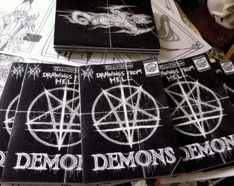 DEMONS zine /satanic art book/  unholy demonic illustrations