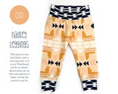 010 Hadley Leggings PDF Sewing Pattern Baby or Kid Toddler Knit Pants Boy or Girl Rib Cuff Preemie to 6T Sadi & Sam (Spit Up and Stilettos)