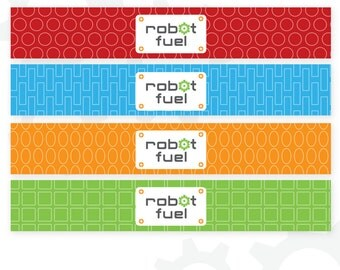 Robot Water Bottle Labels | Robot Fuel | Robot Birthday | Printable Labels | Instant Download | Robot Printable | Robot Stationery