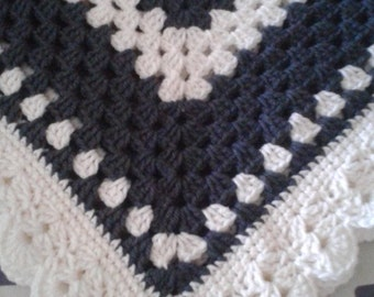 Crochet Baby Blanket, Granny Square Blanket, Ready to ship Baby Blanket