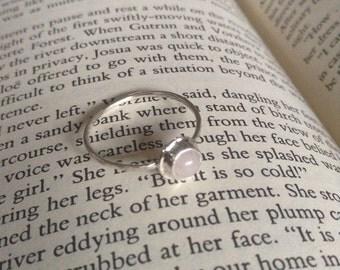 Rose quartz stacking ring size 6