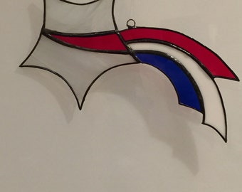 Shooting Star, Stained Glass Patriotic Colors
