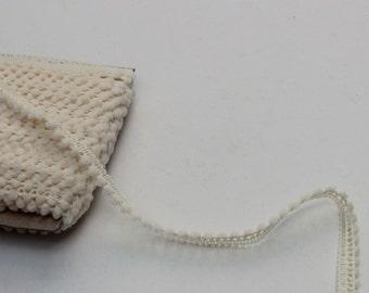 Ivory mini pom pom trim - Ivory trim - Ivory sewing notion - Ivory Pom Pom Trim