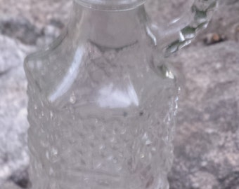 """Vintage Cut Glass Pitcher - Small - 6"""""""