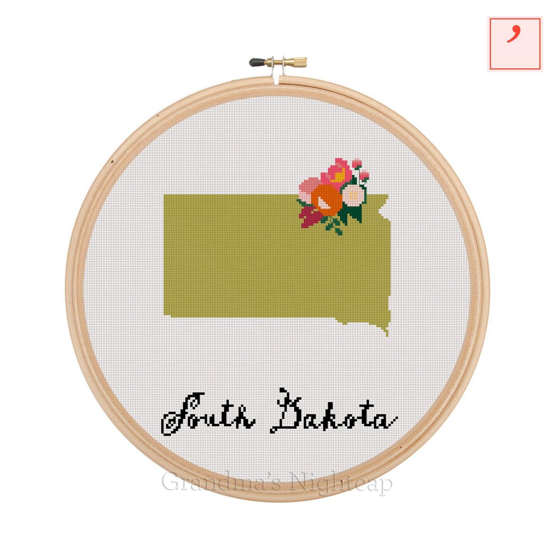 Jan Hagara Cross Stitch: South Dakota Cross Stitch Pattern Modern Cross Stitch