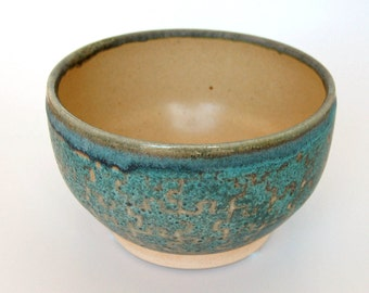 Turquoise Puzzle Pattern Bowl
