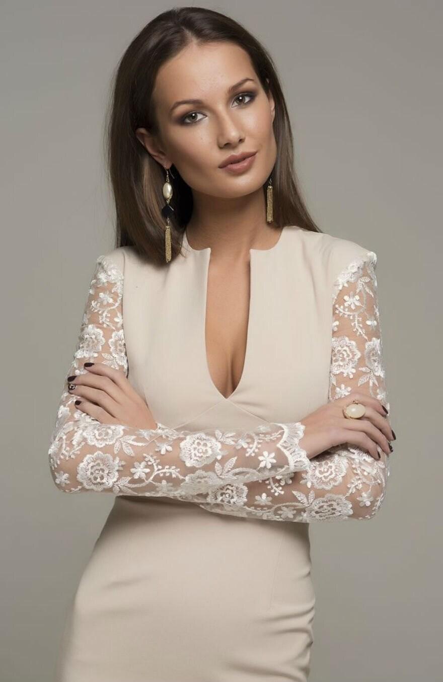 Party ivory dress wedding dress v neck pencil by fashiondress8 for Pencil dress for wedding