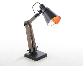NEW COLOUR ADDED Wooden Desk Lamp with 3 available colours