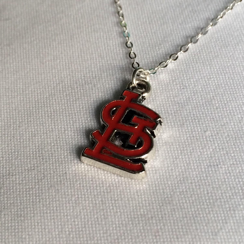 sale stl st louis louis cardinals necklace