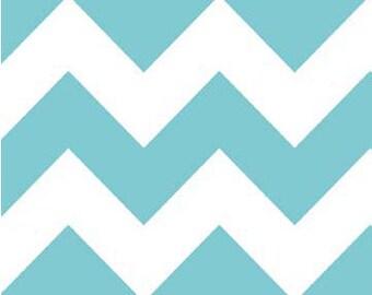 Aqua Chevron - Riley Blake Designs - C320-20