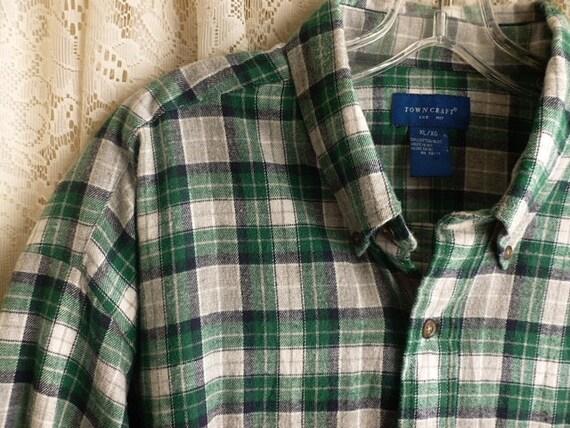 Vintage Plaid Cotton Flannel Shirt Size Extra Large To 2x Xxl