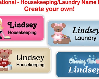 Magnetic Name Badges, Magnetic Name Tags, Name Badges/Tags - Occupational Housekeeping/Laundry themed name badges - HOUSEKEEPING1