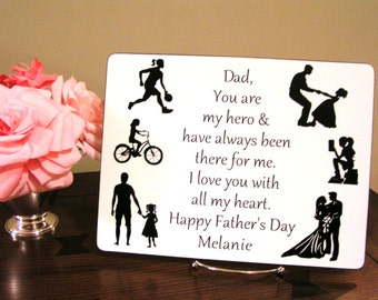 Personalized Father's Day Gift, Gift for Dad from Daughter, Father's Birthday gift, Dad Gift From Daughter, Fathers Gift From Daughter, Papa