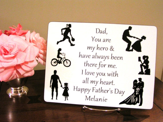 Personalized father 39 s day gift gift for dad from for Creative gifts for dad from daughter