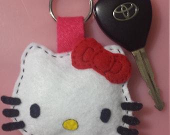 cute hello kitty inspired keychain