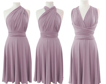 Infinity Dress Convertible/Twist lavender color  wrap dress with long straps