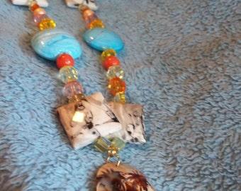 Palm Tree/ Beach Necklace