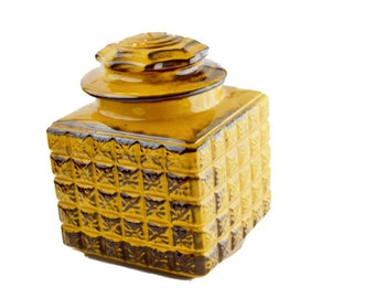 Yellow Canister, Vintage Yellow Cookie Jar