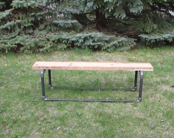 Modern Since 1890 Bench Reclaimed Wood Bench Wood Bench Dining Bench Entry Bench
