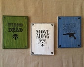 Star Wars wood screen prints, Han Solo, Stormtrooper, Scout Trooper, X-wing typography screen print art