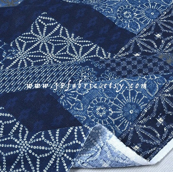 Indigo fabric. Patch fabric. Japanese Linen. Cotton by ...