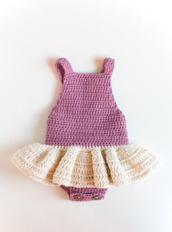 CROCHET PATTERN Crochet Baby Romper Little Ballerina