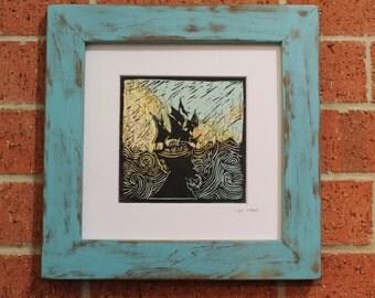 Sailor, sea, art print