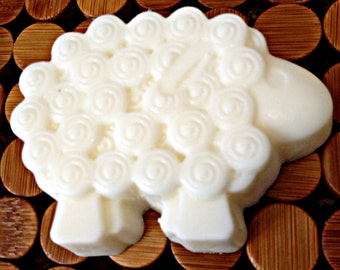 Sheep Glycerin Shea Butter Handmade Natural Soap. Sensitive skin. Baby shower/baptism/first communion/Easter. Unscented/essential oils