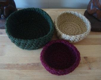 crochet bowls bird's nest bowls trinket bowl UK