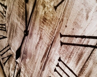 "30"" Wall Clock - Reclaimed wood"