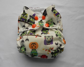 Halloween Owls All-In-One Cloth Diaper