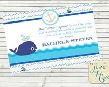 Ocean Themed Baby Shower Invite