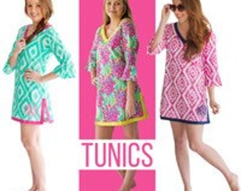 WB Tunic Cover-up,beach coverup,clearance beach coverup,clearance swim coverup,clearance swim tunic,preppy tunic,monogrammed tunic
