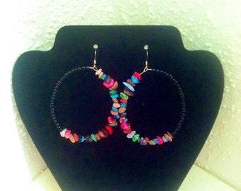 Rainbow stone earrings