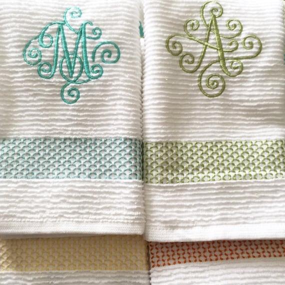 Embroidered Kitchen Towels By InStitchesByKristin On Etsy