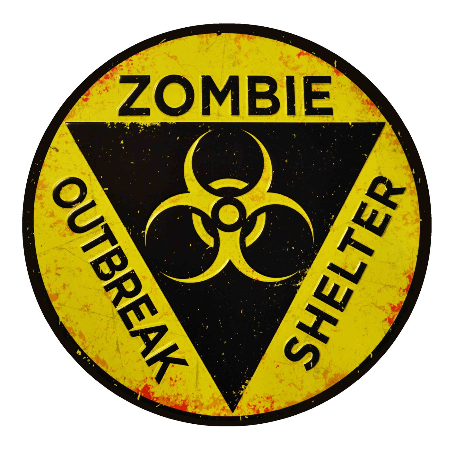 ZOMBIE DECAL 8 ZOMBIE Outbreak Shelter