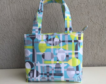 Zip Top Lunch Bag ~ Back to School ~ Snack Bag ~ Bottle Bag ~ Insulated Bag