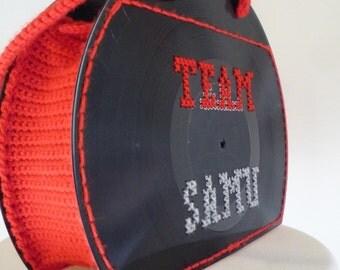 """Vinyl record purse - Schallplattentasche """"Team Samu"""""""