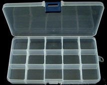 Plastic Beads Storage Containers, 10x17.5x2.3cm.  (PAK-A202)