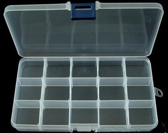 Plastic Beads Storage Containers, Size:3.93inch wide,   6.88inch long,    0.90inch height. (PAK-A202)