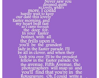 Easter Art, Easter Bunny Word Art, Easter Gift, Easter Keepsake, Word Art Typography, PRINTABLE DIGITAL FILE