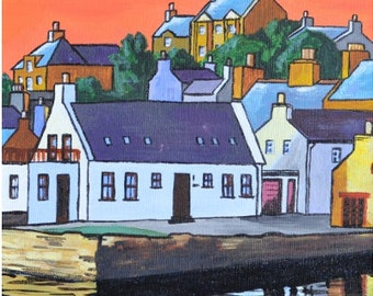 Stromness Still Evening - Open Edition Giclee Print by aelvinart