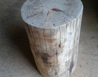 "Burnt Pine Stump Stool Table 10"" - 11"" wide - Custom Heights Available"