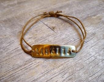 Personalized, Recycled Brass Bracelet