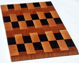 Natural Hardwood End Grain Cheese Cutting / Serving board