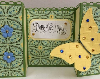 Birthday Gate-fold Butterfly Card #47